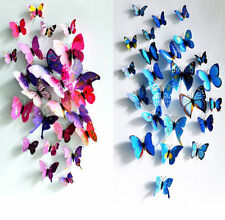 12pcs Art Design Decal Wall Stickers Home Decor Room Decorations 3D Butterfly