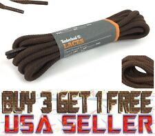 LOT 1 to 5 Timberland 54 Inch Round Replacement Boot Shoe Laces #Pc020 Fox Brown