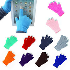 Soft Winter Unisex Touch Screen Gloves Texting Capacitive Smartphone Knit H2