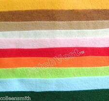 """Felt Solid Square Sheet Lot 9"""" x 11"""" Craft Supplies 10 Warm Colors FREE SHIPPING"""