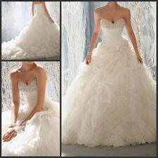 2015 New White/Ivory Sweetheart Wedding Dress Bridal Gown Size6-8-10-12-14-16