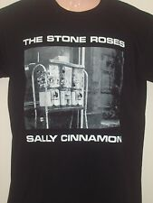 MENS THE STONE ROSES T SHIRT SALLY CINNAMON IN BLACK