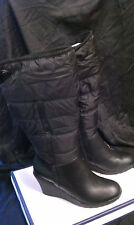 NEW Croft & Barrow Garland Black Mid Calf Boot WARM WINTER BOOTS