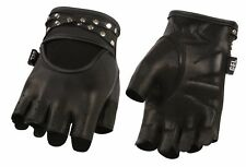 Ladies Leather Fingerless Glove w/ Gel Palm & Bling for Style.. Sexy Look! SH461