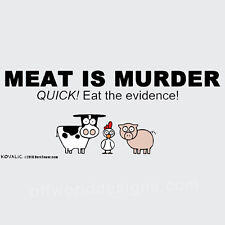 New T-Shirt Meat is Murder Funny BBQ Grilling Meat Cutters OffWorld Designs