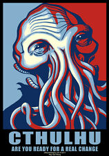 New T-Shirt Cthulhu for President Campaign Poster HP Lovecraft OffWorld Designs