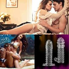 Crystal Penis Ejaculation Delay Sleeve Cock Erection Ring Sexual Aid Condom Male