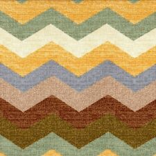 "Panama Wave Pebble Chevron 72"" Round Tablecloth with 38"" Square Topper"
