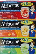 36 Airborne Effervescent Vitamins and Minerals Tablets Blast of Vitamin C