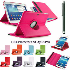 "360°Rotatable Folding Folio Leather Stand Case Cover for Samsung Tab 3 7""8""10.1"""