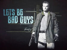 """Firefly """"Let's Be Bad Guys"""" (Tee) T-Shirt - Graphic on back (Men's)"""
