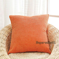 40/45/50cm Square Kissenbezug Cord Sofa Kissenhülle Pillow Cushion Tasche Etui