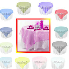"10 Organza Table Overlay Cloth 72"" Square Multi- Colors Wedding Party Supply"
