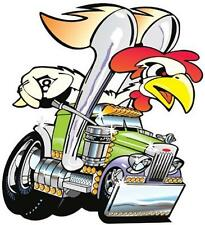 Peterbilt Semi Big Rig Hauler Cartoon T-shirt #1039 Truck'n Rooster