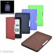 WOOD STYLE ULTRA THIN PU LEATHER CASE COVER FOR KINDLE 7 WITH TOUCH SCREEN 2014