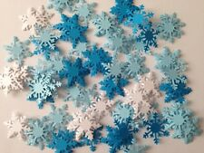 100+ XL FROZEN white blue card 30mm LARGE snowflakes confetti table decorations