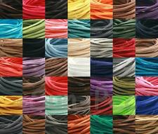 5-15yd DIY 3mm Flat Leather Lace Cord Thong Jewelry Crafts Faux Suede Beading