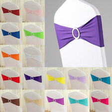 Lot Sold Wholesale Lycra Flocked Chair Sashes Bows Wedding Reception Decorations