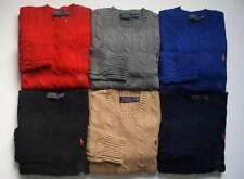 NEW Men Polo Ralph Lauren Cable Knit Sweater Size S M L XL XXL - CLASSIC FIT.