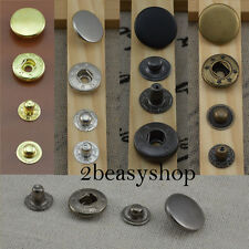Black Silver Brass Press Studs Snap Fasteners Sewing Buttons 10/12.5/15/17mm NEW