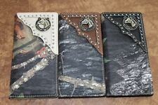 Men Women Western Rodeo Wallet Horseshoe Horse Hunting Camo Checkbook Pick Color