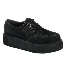 Demonia Creeper-402S Black Suede Platform Shoes - Gothic,Goth,Punk,Black,Creeper