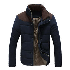 Korean Style Color Block Thicken Stand Collar Slimming Long Sleeves Men's JACKET