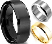 Size 7-15 8MM Stainless Steel Ring Wedding Engagement Propose Class Anniversary