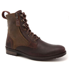 ASK THE MISSUS AMPLE MENS BOOTS LEATHER MILITARY LACE UP BROWN SIZE 6 8 9 10