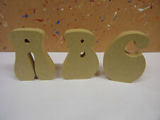 "18mm mdf wooden freestanding letters4"",6"",8"",10""12 bell font CHEAPEST ON EBAY"