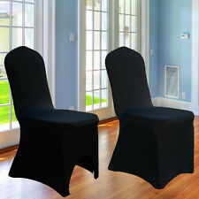 50PCS White Chair Covers Spandex Lycra Cover Wedding Banquet Anniversary Party