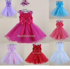 KIDS BABY GIRLS  PARTY DRESS WEDDING/ OCCASION/PARTY TUTU /CHRISTMAS AGE 2-8YRS