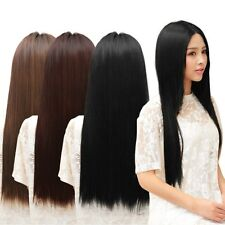 Women's 60cm One piece 5 Clips long Straight Hairpiece Clip-on Hair Extension