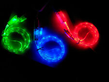 LED Light Micro USB Charge Data Cable for Samsung Galaxy S4 S3 S2 HTC LG 4 Color