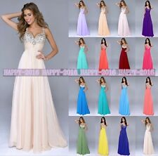 2015 Floor Length Prom Evening Gowns Beach Maid Of Honor Bridesmaid Dresses 6-16