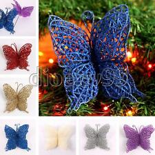 Christmas Tree Hanging House Decoration Hollow Plastic 3D Butterfly Ornaments