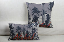 New Hawaii Aloha Tropical Palm Tree Linen Pillow Case Sofa Cushion Cover 2 sizes
