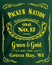 PACKER NATION Green Bay Packers T-Shirt Limited Edition Rodgers Lombardi Starr