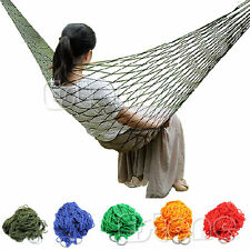 Portable Nylon Hanging Mesh Sleeping Bed Swing Outdoor Travel Camping Hammock