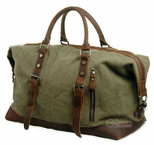 Canvas Travel Handbag Sports Weekend Overnight Carry-on Luggage Duffel Gym Bag