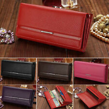 New Women Fashion Leather Wallet Button Clutch Purse Lady Long Handbag Bag