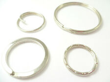 SPLIT RINGS PREMIUM UK QUALITY SPRING STEEL 4 DESIGNS 14 SIZES  BUY 5 To 1000