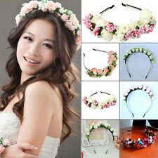 Bridal Resin Flower Headband Wedding Party Floral Garland Hairband Headwear