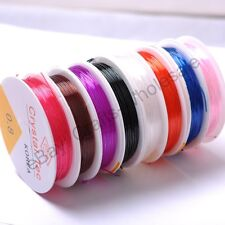 1Roll 0.8MM 1.0MM Stretch Elastic Fine Strong Beading Thread Color U Pick