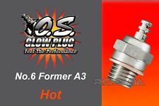OS O.S. Glow Plug Type No.6 (former A3) Hot Long-Lasting Plug .10-.60 2-Strokes