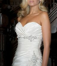 2015 White or Ivory Wedding dress Bridal Gown Sweetheart Taffeta Size 6++++16