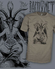 Baphomet Shirt - Lucifer Tee - Satan Devil Occult T Shirt - Scoop V-Neck Raglan