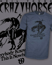 Neil Young and Crazy Horse Rock T-Shirt - End of The Trail - Scoop V-Neck Raglan