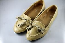 Womens / Girls Comfy Flats Casual Bow Flat Shoes (Beige)