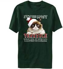 It's The Most Terrible Time of Year Christmas Grumpy Cat T-Shirt New